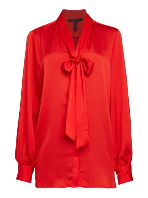 BCBGMAXAZRIA Bow-Neck Blouse