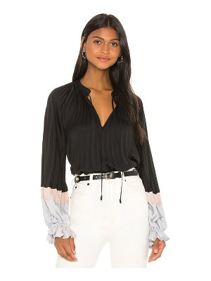 BCBGMAXAZRIA colorblock blouse