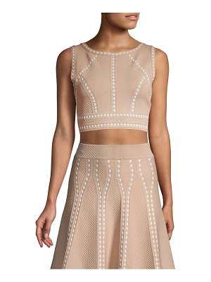 BCBGMAXAZRIA Fenella Textured Crop Top