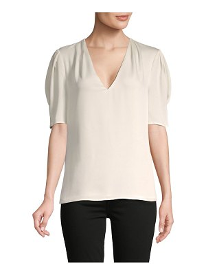 BCBGMAXAZRIA Puffed-Sleeve Top