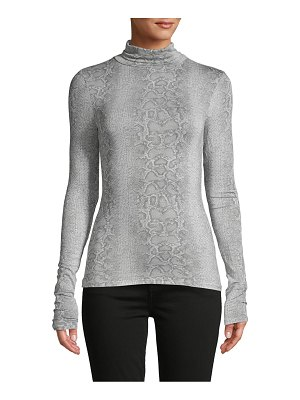 BCBGMAXAZRIA Snakeskin-Print Long-Sleeve Top