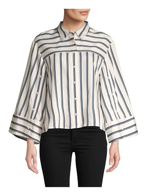 BCBGMAXAZRIA Striped Button-Down Shirt