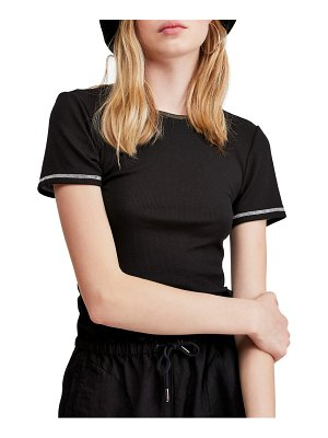 BDG urban outfitters contrast stitch ribbed baby tee