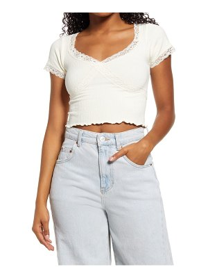 BDG Urban Outfitters cross lace v-neck baby tee