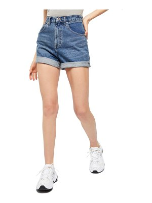 BDG Urban Outfitters high waist cuffed denim mom shorts