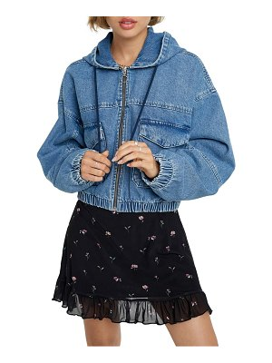 BDG Urban Outfitters hooded crop denim jacket