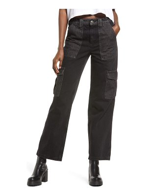 BDG Urban Outfitters patchwork high waist straight leg jeans