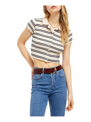 BDG Urban Outfitters stripe button-up crop top