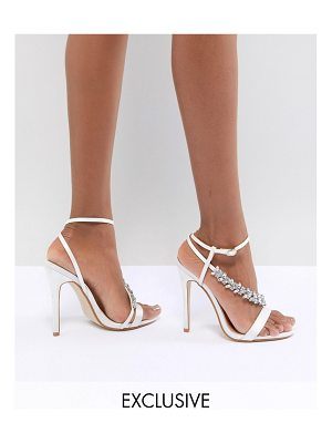 Be Mine Bridal Lila Ivory Satin Embellished Sandals
