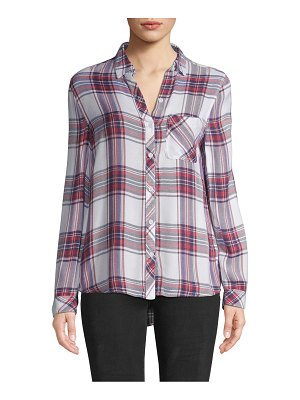 Beach Lunch Lounge Charley Plaid Button-Front Shirt