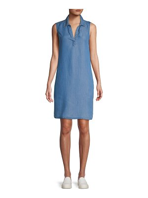 Beach Lunch Lounge Collared Popover Shift Dress