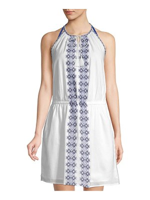 Beach Lunch Lounge Embroidered Cotton Dress