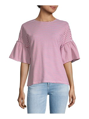 Beach Lunch Lounge Flared-Sleeve Cotton Top