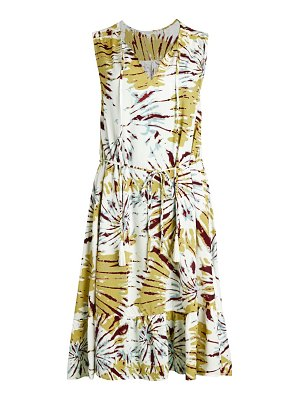Beach Lunch Lounge Floral-Print Sleeveless Dress