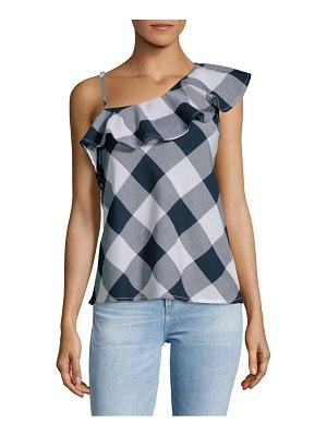 Beach Lunch Lounge Gingham Ruffled Cotton Top