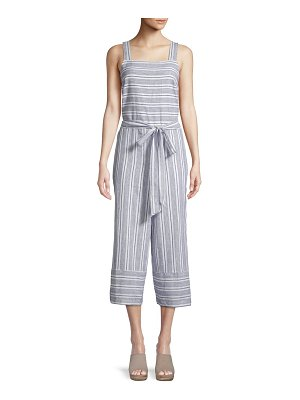 Beach Lunch Lounge Inkwell Striped Cropped Jumpsuit