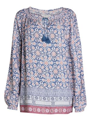 Beach Lunch Lounge Louisa Floral Tie Blouse