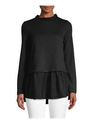 Beach Lunch Lounge Mockneck Long-Sleeve Top