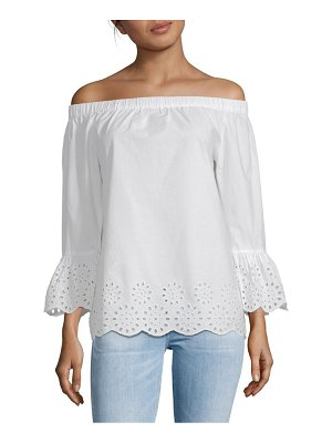 Beach Lunch Lounge Off-The-Shoulder Cotton Top