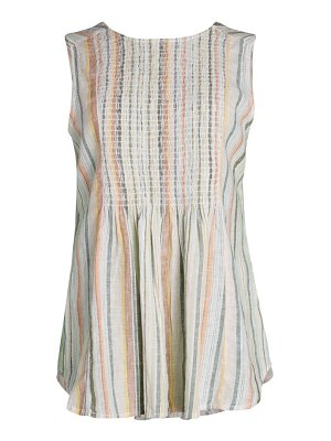 Beach Lunch Lounge Olympia Smocked & Striped Top