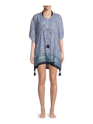 Beach Lunch Lounge Printed Cover-Up Dress