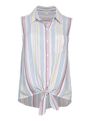 Beach Lunch Lounge Printed Tie Top