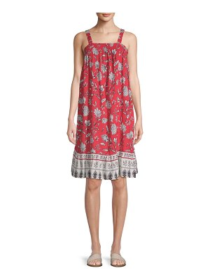 Beach Lunch Lounge Sleeveless Floral Dress Cover-Up