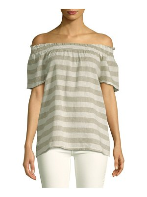 Beach Lunch Lounge Smocked Off-The-Shoulder Top
