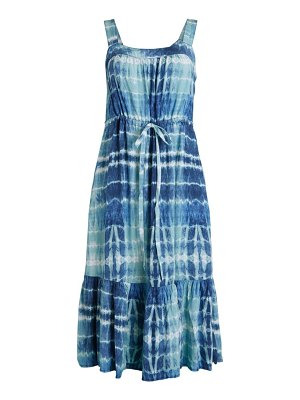 Beach Lunch Lounge Stina Tie-Dye Flounce A-Line Dress