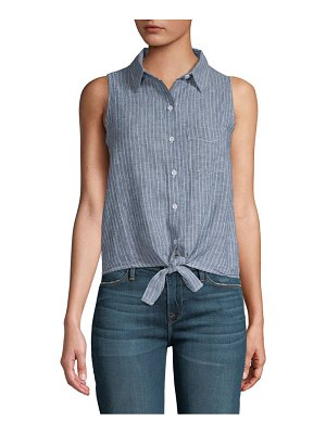 Beach Lunch Lounge Stripe Tie-Front Top