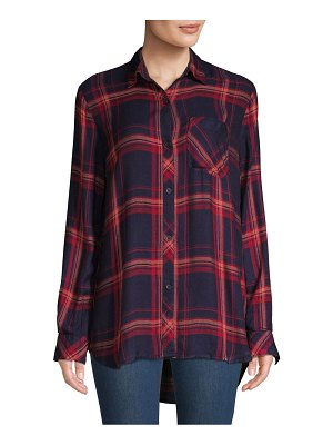 Beach Lunch Lounge Plaid Button-Down Shirt