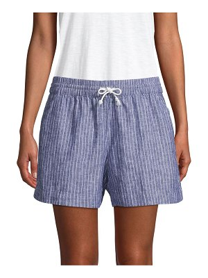 Beach Lunch Lounge Striped Drawstring Shorts