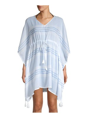 Beach Lunch Lounge Striped Tie-Front Cover-Up