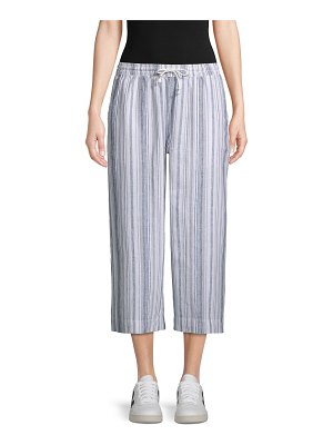 Beach Lunch Lounge Striped Wide Cropped Pants