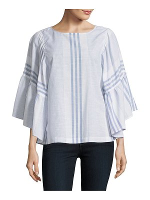 Beach Lunch Lounge Striped Wide-Sleeve Blouse