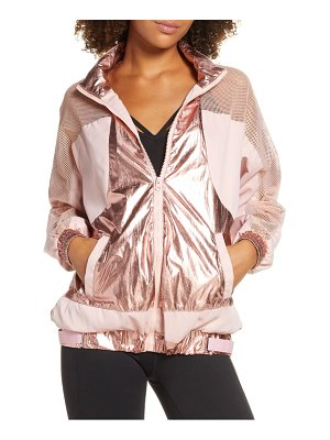 Beach Riot metallic & mesh jacket