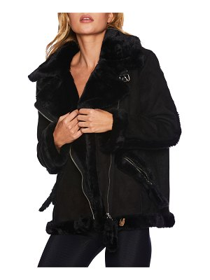 Beach Riot Moto Jacket with Faux Fur