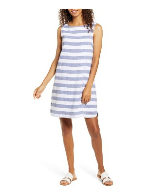 beachlunchlounge alina stripe linen & cotton shift dress