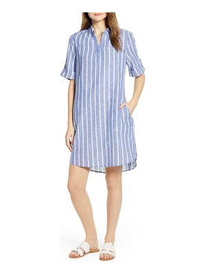 beachlunchlounge amalie fringe hem linen & cotton dress