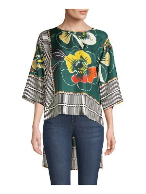 Beatrice B Printed High-Low Blouse