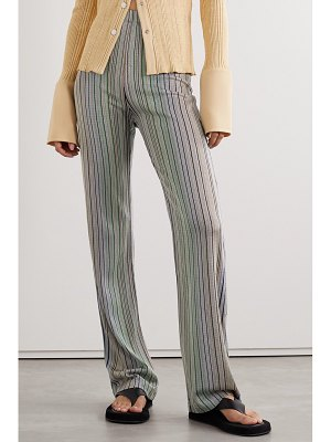 Beaufille copland striped stretch jacquard-knit flared pants