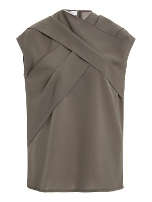Beaufille ensor draped twill top