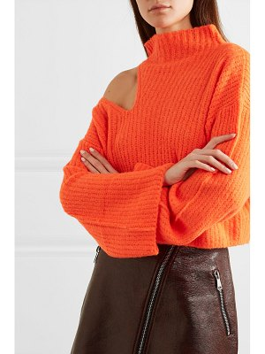 Beaufille forero neon cutout ribbed-knit turtleneck sweater