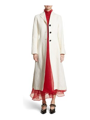 Beaufille rhodes swirl jacquard trench coat