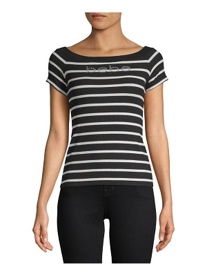 bebe Chrissy Stripe Short-Sleeve Top
