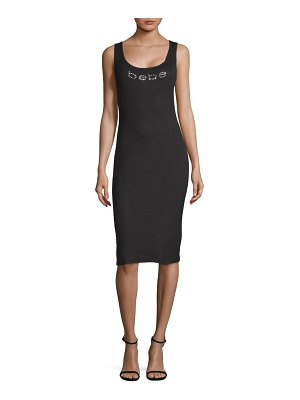 bebe Logo Sleeveless Sheath Dress