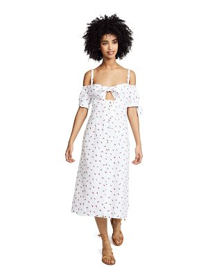 Bec & Bridge cherry pie midi dress
