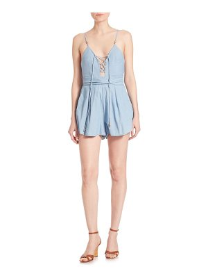 Bec & Bridge Talisman Denim Short Jumpsuit