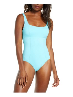 Becca color code square neck one-piece swimsuit