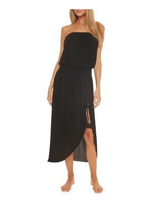 Becca ponza strapless cover-up dress